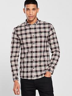 river-island-ecru-check-wasp-embroidered-button-up-shirt