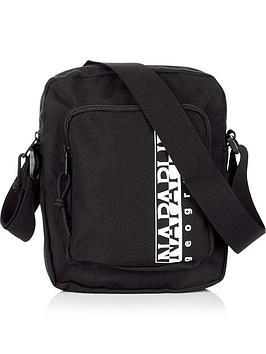 napapijri-happy-logo-print-cross-body-bag-black
