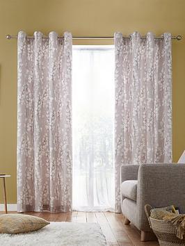 catherine-lansfield-freya-leaf-eyelet-curtains