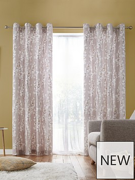catherine-lansfield-freya-leaf-eyelet-curtains