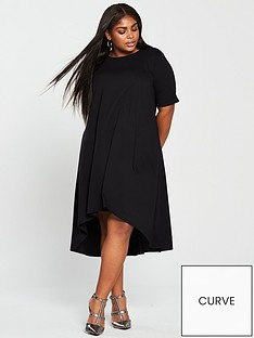 V by Very Curve Jersey Midi Dress - Black f597a747f
