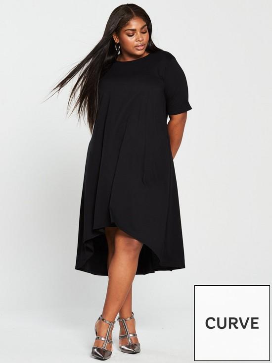 97b478eb6dae V by Very Curve Jersey Midi Dress - Black
