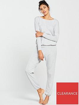 v-by-very-cosy-knit-short-sleeve-lounge-setnbsp--grey