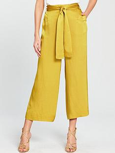 whistles-satin-belted-wide-leg-trousers-gold