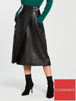 whistles-leather-wrap-skirt