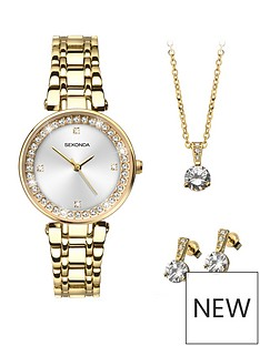 sekonda-sekonda-white-crystal-set-dial-gold-stainless-steel-bracelet-ladies-watch-with-matching-earrings-and-necklace-gift-set
