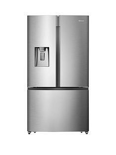 Hisense RF702N4IS1 91cm Wide, Total No Frost , French Door, Food Centre Fridge Freezer - Premium Stainless Steel effect