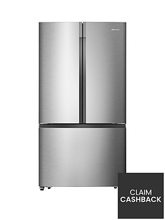 Hisense RF715N4AS1 91cm Wide, Total No Frost , French Door, Food Centre Fridge Freezer - Stainless Steel Effect
