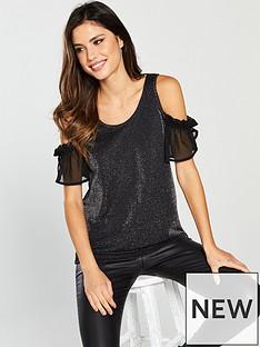 v-by-very-cold-shoulder-glitter-vest-black