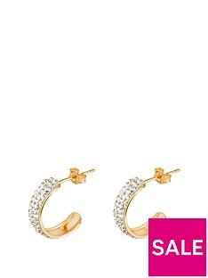 love-gold-9ct-gold-crystal-set-half-hoop-earrings