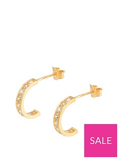 love-gold-9ct-gold-cubic-zirconia-channel-half-hoop-earrings