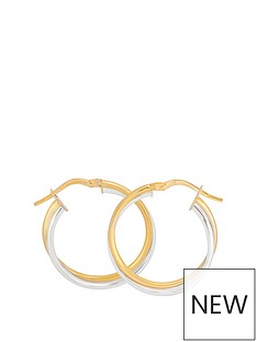 love-gold-9ct-two-tone-gold-24mm-double-hoop-twist-earrings