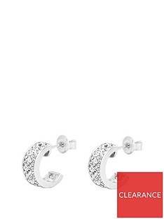the-love-silver-collection-sterling-silver-amp-crystal-half-hoop-earrings