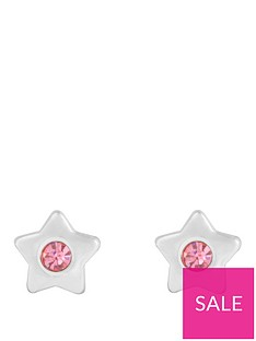 the-love-silver-collection-sterling-silver-amp-pink-cubic-zirconia-star-stud-children039s-earrings