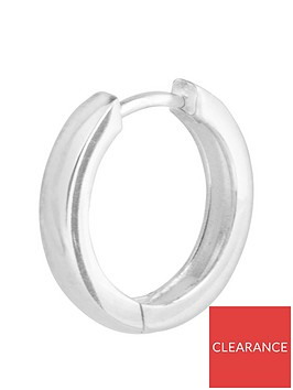 the-love-silver-collection-sterling-silver-single-huggie-hoop-men039s-earring