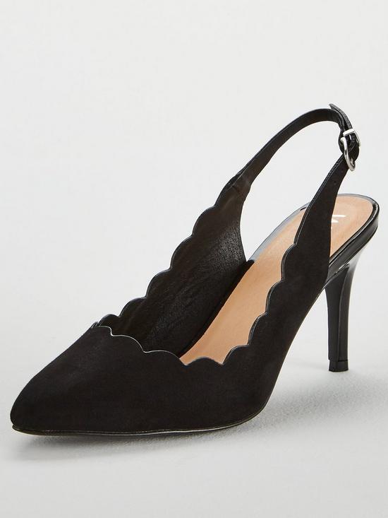 387e6d11995 Cody Slingback Scallop Point Shoe - Black