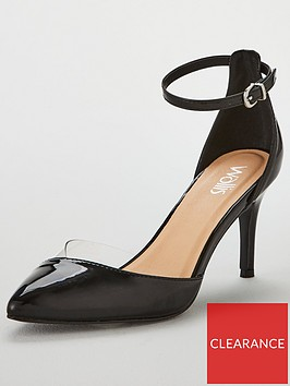 wallis-copenhagen-clear-detail-court-shoe-black