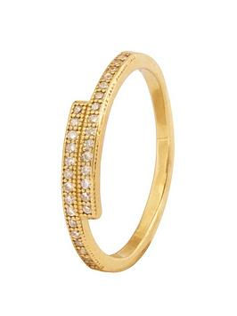 the-love-silver-collection-sterling-silver-gold-plated-cubic-zirconia-ring
