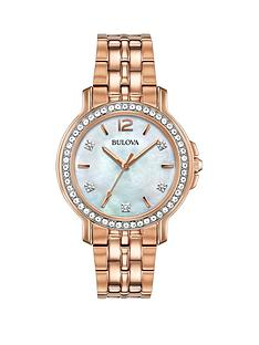 bulova-mother-of-pearl-and-diamond-set-dial-rose-gold-stainless-steel-bracelet-ladies-watch