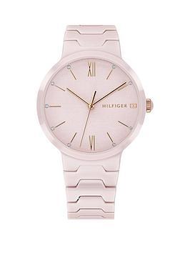 Tommy Hilfiger 1781957 Pink Dial Pink Ceramic Bracelet Ladies Watch, One Colour, Women thumbnail