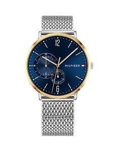 tommy-hilfiger-tommy-hilfiger-blue-and-gold-detail-dial-stainless-steel-mesh-strap-mens-watch