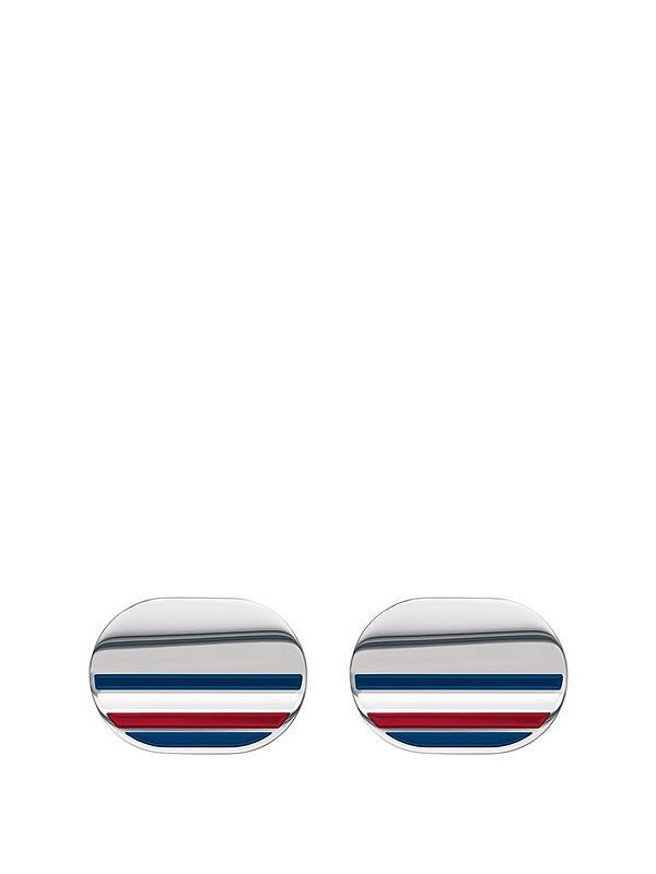 835a19b7 Tommy Hilfiger Tommy Hilfiger Stripe Detail Oval Cufflinks | very.co.uk