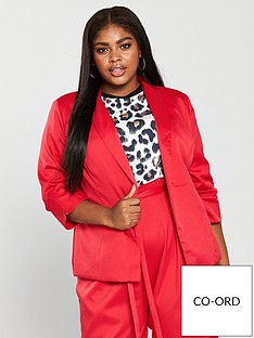 girls-on-film-curve-co-ord-tailored-blazer-red