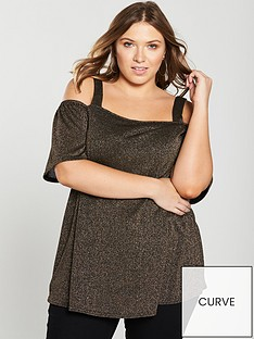v-by-very-curve-cold-shoulder-glitter-knit-tunic-metallic