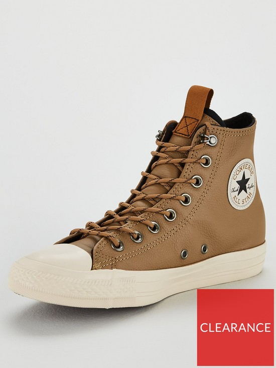 775906c36f42 Converse Chuck Taylor All Star Leather Hi Top Plimsolls