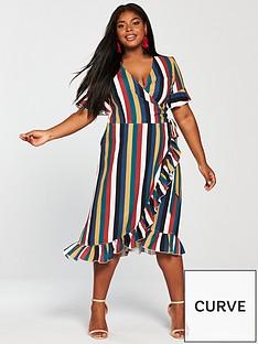 girls-on-film-curve-midi-wrap-dress-stripe
