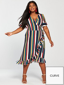girls-on-film-curve-midi-wrap-dress-stripe