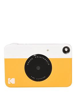 kodak-printomatic-instant-camera-withnbspoptional-20-pack-of-paper-and-case-yellow