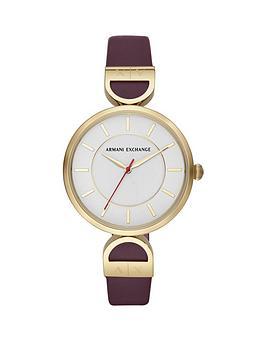 armani-exchange-armani-exchange-white-and-gold-detail-dial-purple-leather-strap-ladies-watch