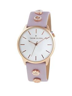 thom-olson-gypset-white-and-rose-gold-dial-pink-leather-strap-with-mother-of-pearl-and-rhinestone-charms-ladies-watch
