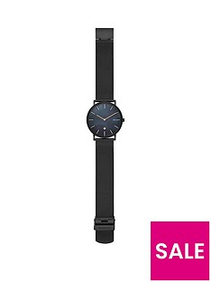 skagen-skagen-black-dial-black-mesh-stainless-steel-strap-mens-watch