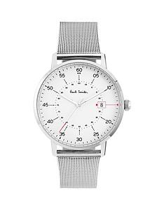 paul-smith-gauge-white-with-red-detail-dial-stainless-steel-mesh-mens-watch