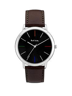 paul-smith-ma-black-and-multi-colour-detail-dial-brown-leather-strap-mens-watch