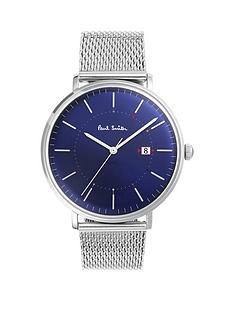 paul-smith-track-blue-and-multi-colour-detail-dial-stainless-steel-mesh-bracelet-mens-watch