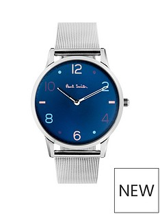 paul-smith-slim-blue-and-multi-colour-number-detail-dial-with-stainless-steel-mesh-and-blue-leather-interchangable-straps-watch