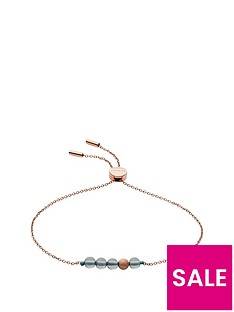 skagen-skagen-stainless-steel-rose-gold-and-green-chain-slider-bracelet