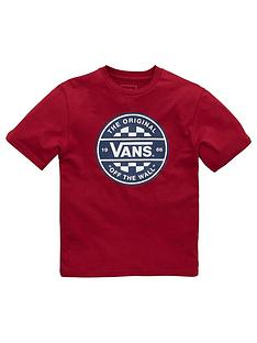 vans-boys-checker-t-shirt-red