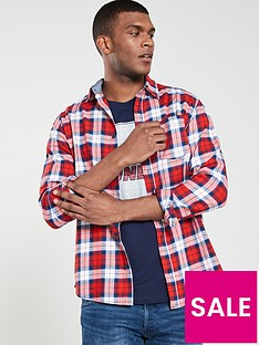 jack-jones-nico-one-pocket-shirt-red