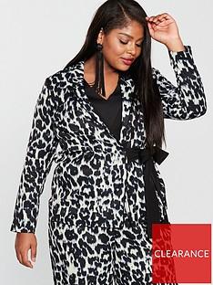 1c0603d5c217f V by Very Curve Animal Print Tie Detail Jacket