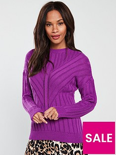 v-by-very-mixed-rib-stitch-crew-neck-jumper-purple