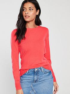 v-by-very-supersoft-crew-neck-jumper-coral-pink