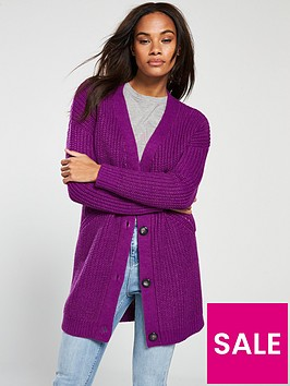 v-by-very-engineered-rib-button-through-cardigan-purple