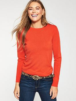 v-by-very-supersoft-crew-neck-jumper-pumpkin