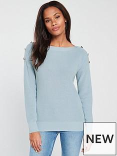 v-by-very-button-boat-neck-jumper-soft-blue