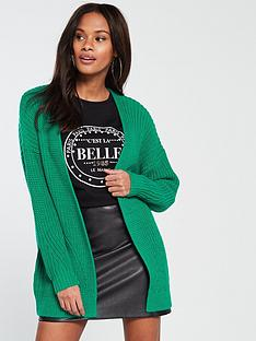 v-by-very-rib-slouch-cardigan-green