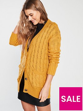 v-by-very-cable-knit-slouch-fit-button-through-cardigan